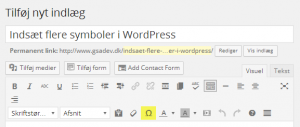 indsaet-symboler-i-wordpress